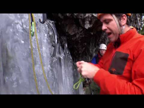 ARC TERYX How to build a V-Thread Anchor on an ice climb