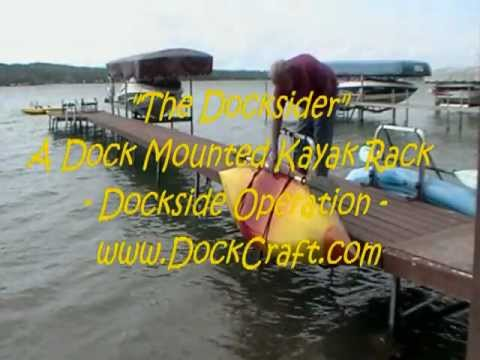 A Dock Mounted Kayak Storage Rack
