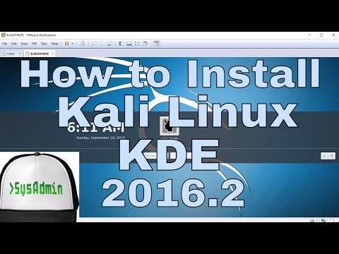 How to Install Kali Linux 2016.2 KDE Plasma 5 + Review + VMware Tools on VMware Workstation [HD]