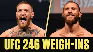 UFC 246 Weigh-Ins: Conor McGregor vs. Donald 'Cowboy' Cerrone