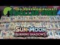 OPENING 100 PACKS OF BURNING SHADOWS DOLLAR TREE POKEMON CARDS mp3