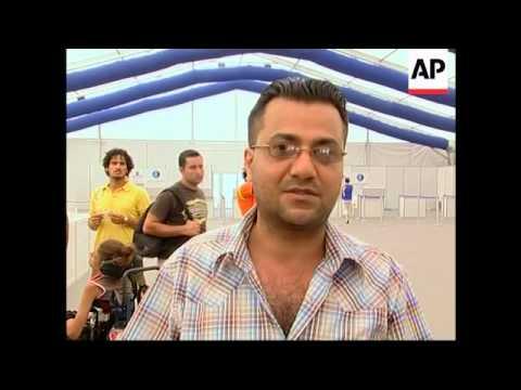 Greek frigate off Beirut, European evacuees