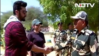Arjun Kapoor Meets Soldiers At The BSF Outpost