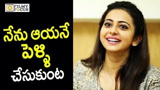 Rakul Preet Reveals her Crush on Top Hero : Unseen Video