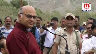 Advsior to Governor K K Sharma inaugurates 1 MW Chillung Mini Hydel Project at Taisuru.