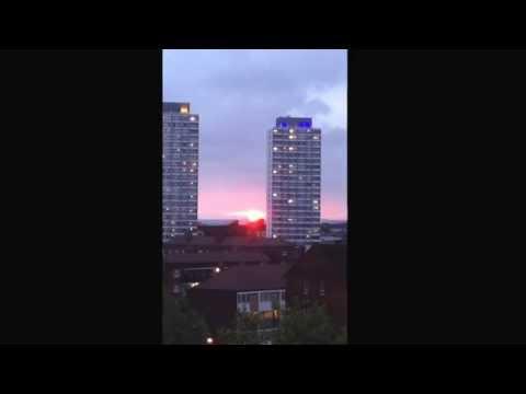 Sunset. Bow. London E3
