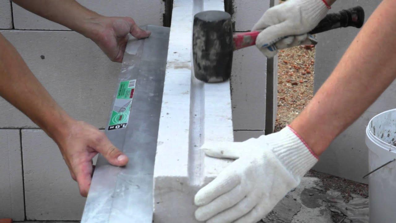 Межкомнатная перегородка из пазогребневого блока своими руками