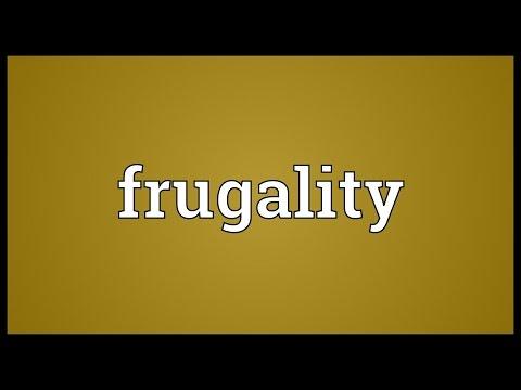 Header of frugality