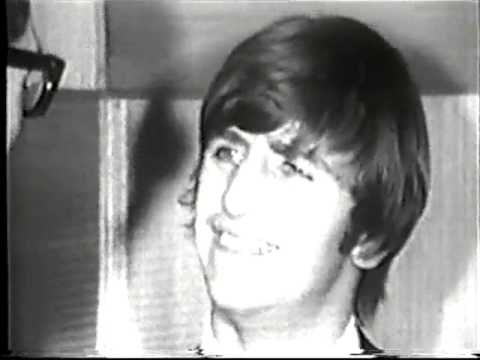 Ringo Starr on his way to join the Beatles in Australia June 1964, interviews and great footage