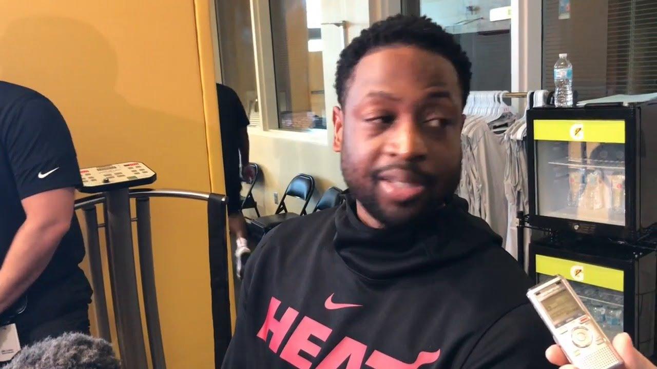 Dwyane Wade speaks about leading Heat