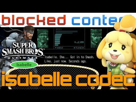 ISABELLE vs Snake CODEC CALL Conversation (Super Smash Bros. Ultimate)