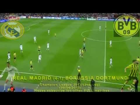 FULL 2nd Leg - Real Madrid vs Borussia Dortmund 2-0 (30/04/2013) Champion League