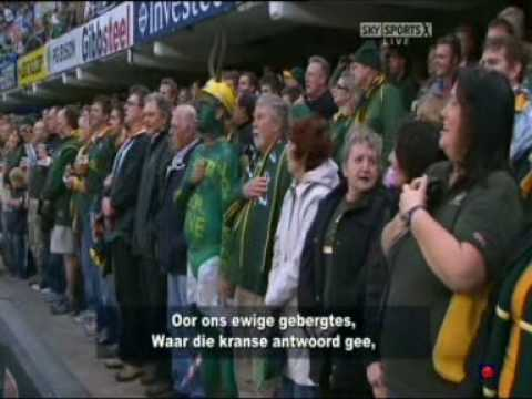 South Africa New Zealand anthems with subtitles