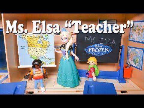 FROZEN Disney Frozen Elsa the School Teacher Toys Video Parody