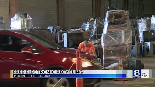 Electronic Recycling event with Senator Robach