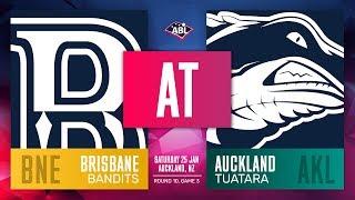 Brisbane Bandits Auckland Tuatara Round 10, Game 3
