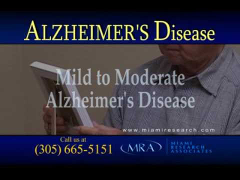 Alzheimers Memory Loss Research Study at Miami Research Associates now Enrolling Patients