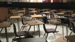 Haunting images show classrooms after deadly Florida school shooting