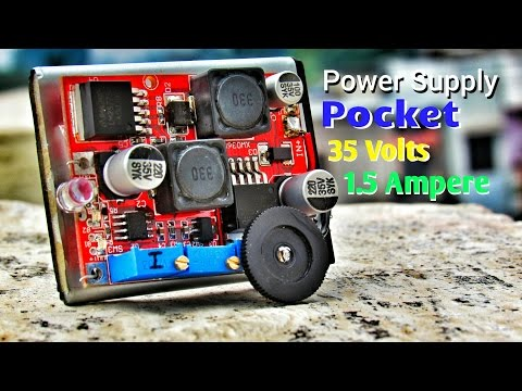 DIY How To Make Variable DC Lab Bench Power Supply That Fits In Your Pocket !