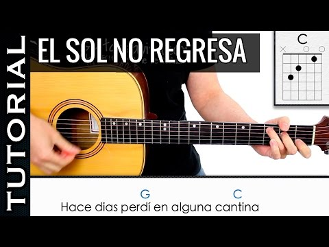 Como tocar El Sol No Regresa en guitarra de La Quinta Estación MUY FACIL / Novatos y principiantes