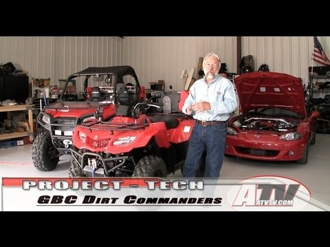 ATV Television Product Review -  GBC DirtCommanders on our Project King Quad 400