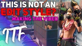 Making A Video: NEW Drift Skin - Not an Edit Style!?