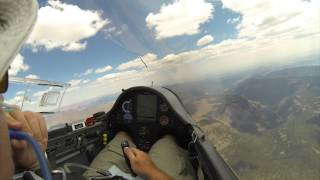 Glider Flying 750km Triangle With Surprise Ending