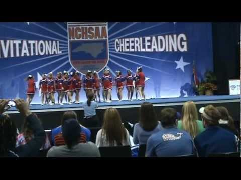 Sanderson High School Varsity Cheer 2nd Place 2012 State Championship Raleigh NC