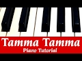 Tamma Tamma Again I Piano Tutorial note by note, very easy in Hindi | instrumental Cover Lesson