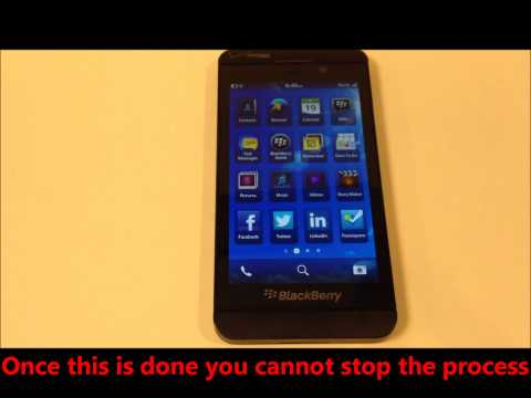 How to wipe (master reset) a blackberry 10 device z10 q10 factory reset,  security wipe