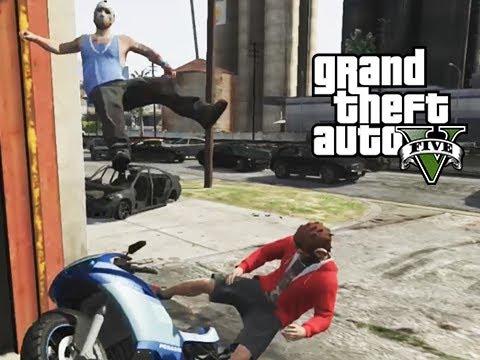 GTA 5 Online Delirious's Train Stunt, Running Glitch and ... Lui Calibre Gta 5