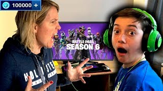 Kid Spends £1000 in Fortnite Season 6 on Mums Credit Card!