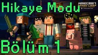 """Minecraft: Story Mode (Hikaye Modu)""""""""Order of the Stone"""" Bölüm 1 [1080P 60FPS] (Türkçe Anlatımlı)"""
