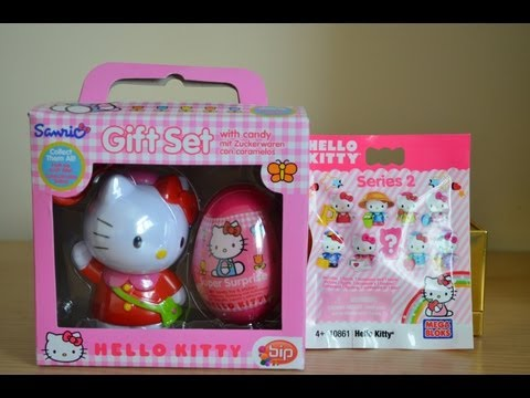 Surprise Egg Hello Kitty Sanrio hello kitty Mega Bloks pack Unboxing Review 2013 (HD)