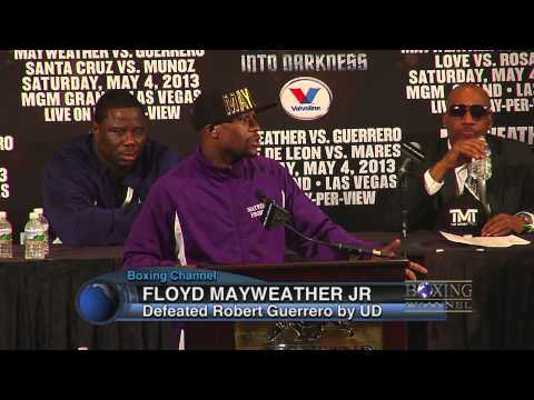 Floyd Mayweather Jr. outboxed Robert Guerrero, gets UD win- MAYDAY Press Conference
