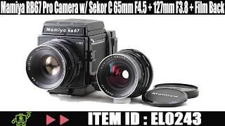 Mamiya RB67 Pro SD Camera w/ Sekor C 65mm F4.5 + 127mm F3.8 Lens + Film Back EL0243
