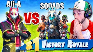 Ali-A *WINNING* SOLO vs SQUADS in Fortnite: Battle Royale!
