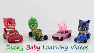 Learn Colors with PJ Masks Toys, Disney cars and Colorful cups | Jingle Bells Kids Song