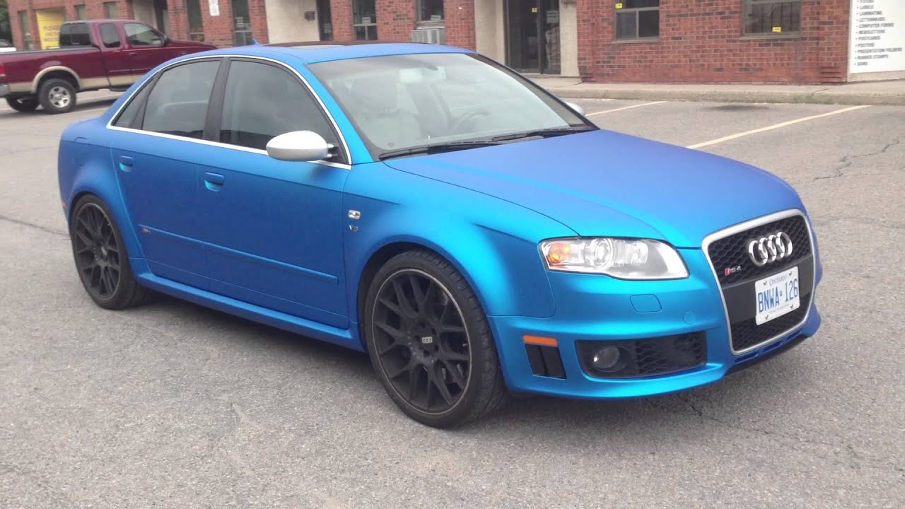 Matte Blue Aluminum Audi Rs4 By Restyle It Wrapped To
