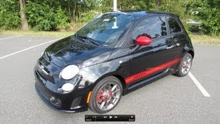 2012 Fiat 500 Abarth Start Up, Exhaust, and In Depth Review