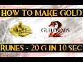 How to make gold in Guild Wars 2 - 20 gold in 10 seconds - Runes highlight
