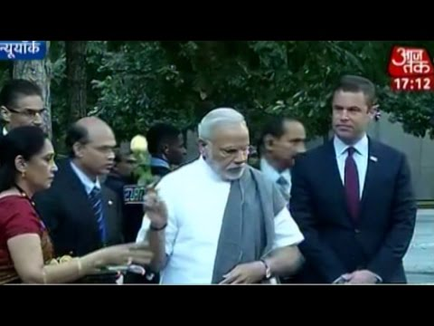 Day 2: PM Narendra Modi visits 9/11 memorial in NY