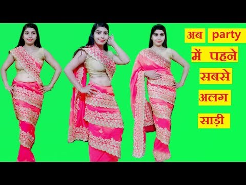 How to Wear New Style Saree | Mumtaz Style Saree Draping | Get Different Look By Geny Geny