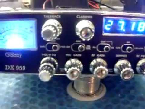 galaxy 959,cb radio,blue displays,led's,mosfets,ECHO