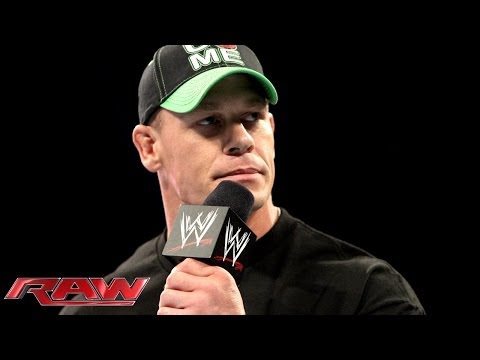 John Cena calls out Bray Wyatt: Raw, March 3, 2014