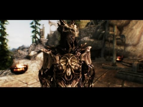 TES V - Skyrim Dragon Bone Mage Armor by Natterforme