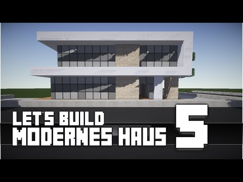 Minecraft modern house 5 modernes haus hd how to for Modernes redstone haus