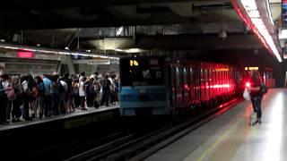 Metro De Santiago   Trenes NS-74 y NS-16 por Cerro Blanco