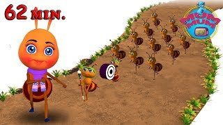 Nursery Rhymes Songs for Kids-Children | The Ants Go Marching One By One Song |  MUM MUM TV