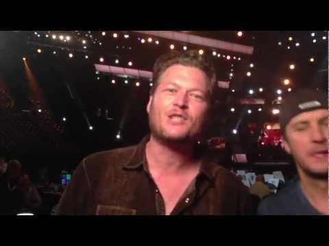 2013 ACM Awards Fan Rehearsal Question - Blake Shelton